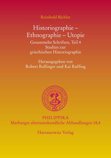 Historiographie, Ethnographie, Utopie - Coverbild