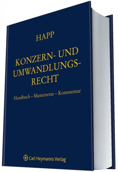 Konzern- und Umwandlungsrecht - Coverbild
