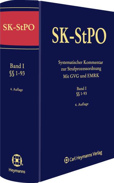 Systematischer Kommentar zur Strafprozessordnung (Mit GVG und EMRK) - Coverbild