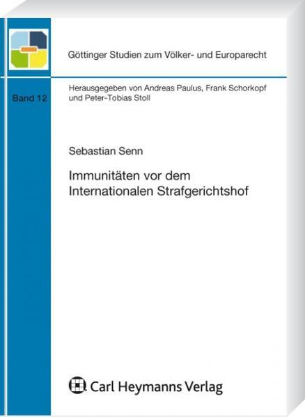 Immunitäten vor dem Internationalen Strafgerichtshof - Coverbild
