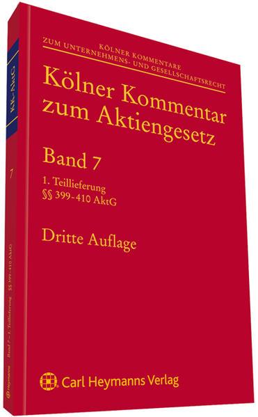Kölner Kommentar zum Aktiengesetz - Coverbild