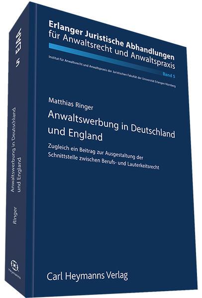 Anwaltswerbung in Deutschland und England - Coverbild