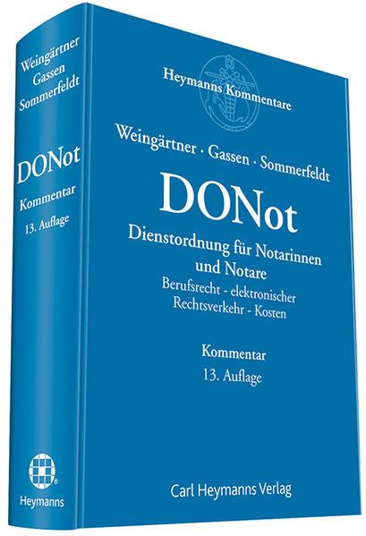 Dienstordnung für Notarinnen und Notare (DONot) - Coverbild