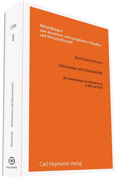 Scheinsozius und Scheinsozietät - Coverbild