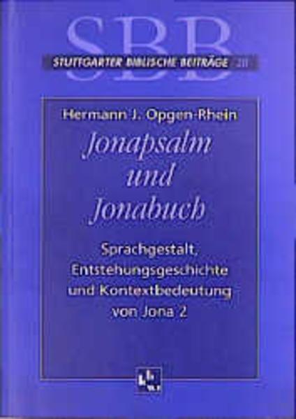 Jonapsalm und Jonabuch - Coverbild