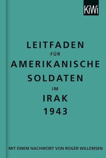 Leitfaden für amerikanische Soldaten im Irak 1943 - Coverbild