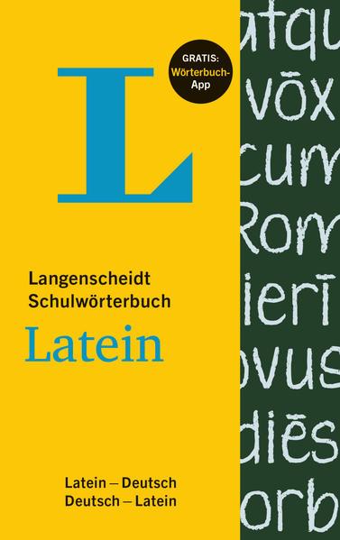 Langenscheidt Schulwörterbuch Latein - Buch mit App - Coverbild