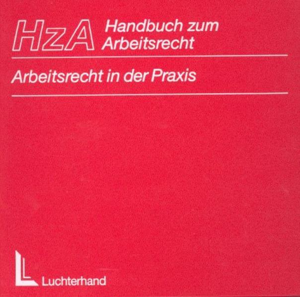 Handbuch zum Arbeitsrecht (HzA) - Coverbild