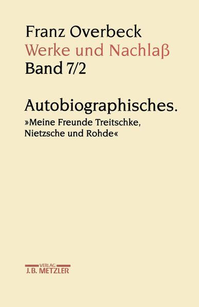 Download PDF Kostenlos Franz Overbeck: Werke und Nachlaß