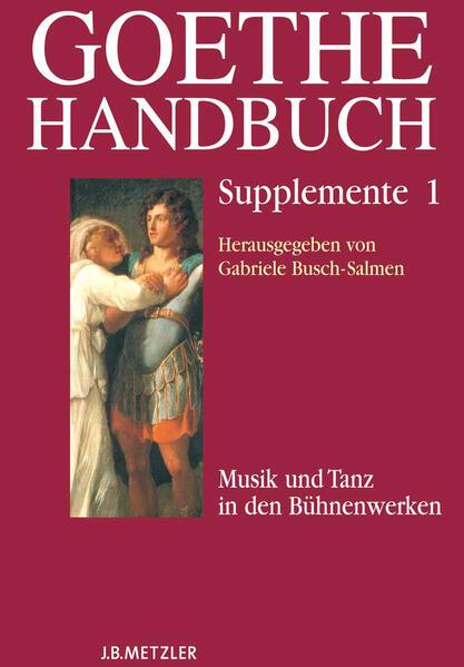 Goethe-Handbuch Supplemente - Coverbild