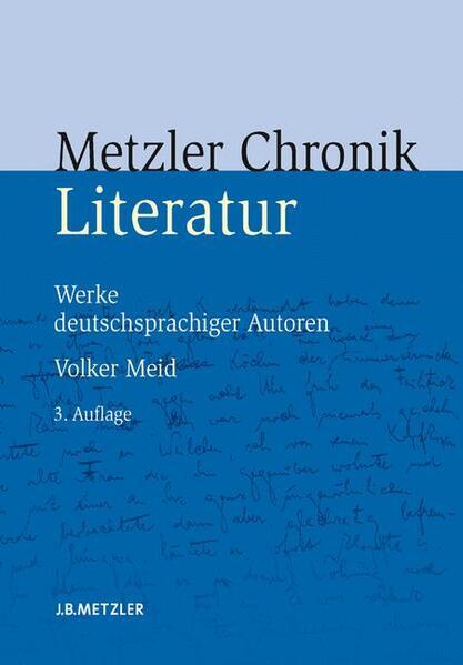 Metzler Literatur Chronik - Coverbild
