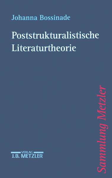 Poststrukturalistische Literaturtheorie - Coverbild