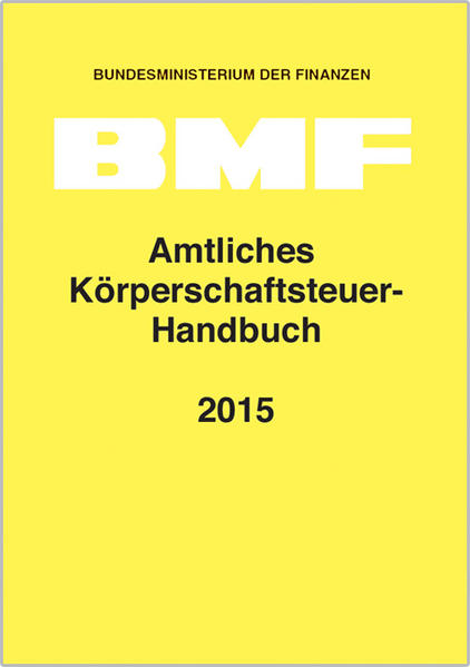 Amtliches Körperschaftsteuer-Handbuch 2015 - Coverbild