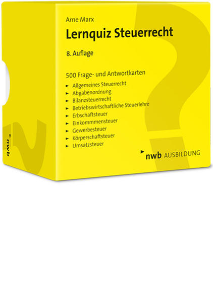 Lernquiz Steuerrecht - Coverbild