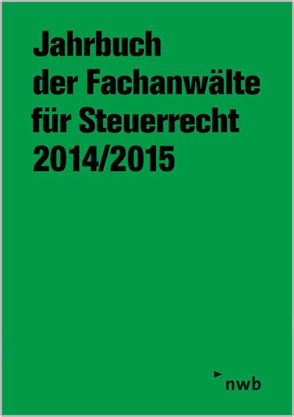 Jahrbuch der Fachanwälte für Steuerrecht 2014/2015 - Coverbild