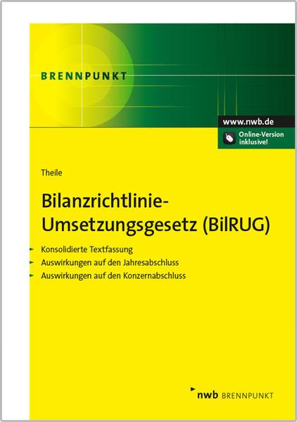 Bilanzrichtlinie-Umsetzungsgesetz Epub Kostenloser Download