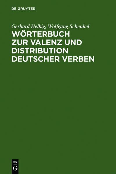 Wörterbuch zur Valenz und Distribution deutscher Verben - Coverbild