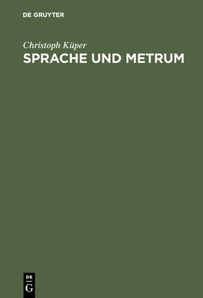Sprache und Metrum - Coverbild