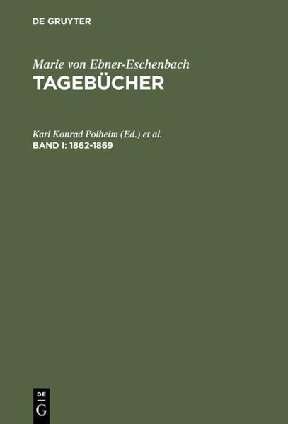 Marie von Ebner-Eschenbach: Tagebücher / 1862–1869 - Coverbild