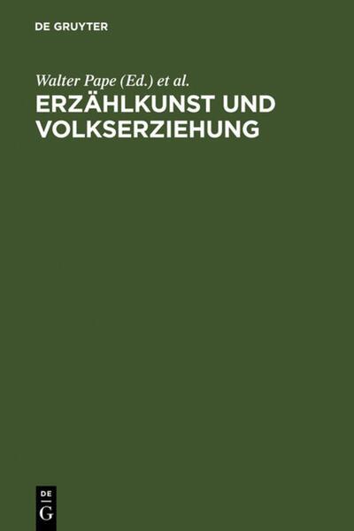 Erzählkunst und Volkserziehung - Coverbild