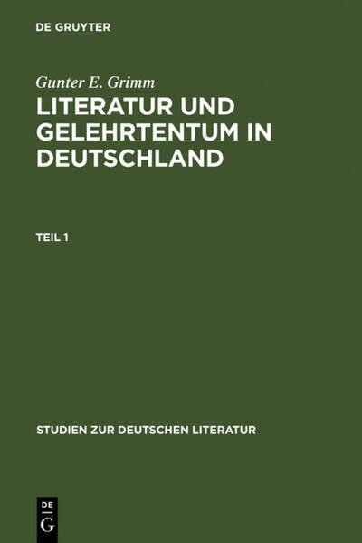 Literatur und Gelehrtentum in Deutschland - Coverbild
