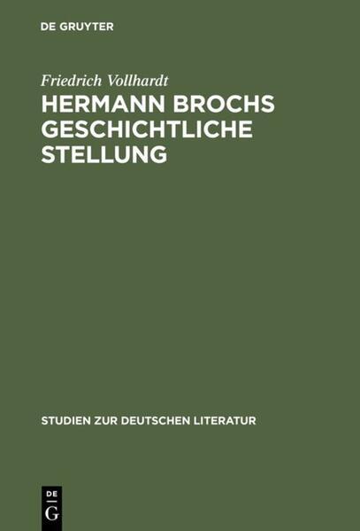 Hermann Brochs geschichtliche Stellung - Coverbild