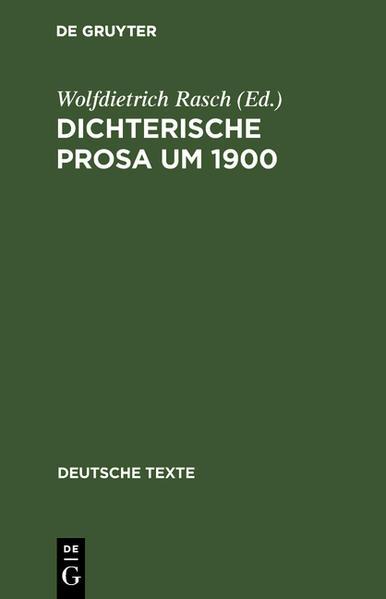 Dichterische Prosa um 1900 - Coverbild