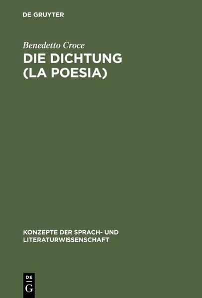 Die Dichtung (La Poesia) - Coverbild