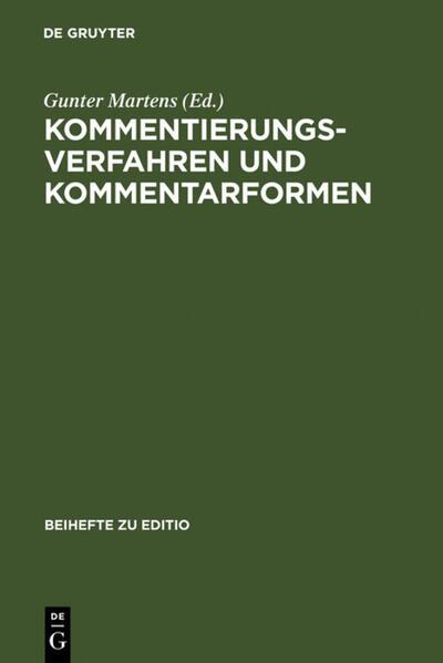 Kommentierungsverfahren und Kommentarformen - Coverbild