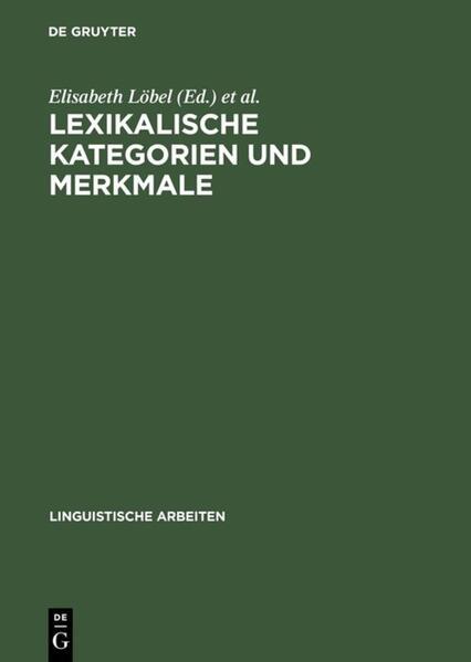 Lexikalische Kategorien und Merkmale - Coverbild