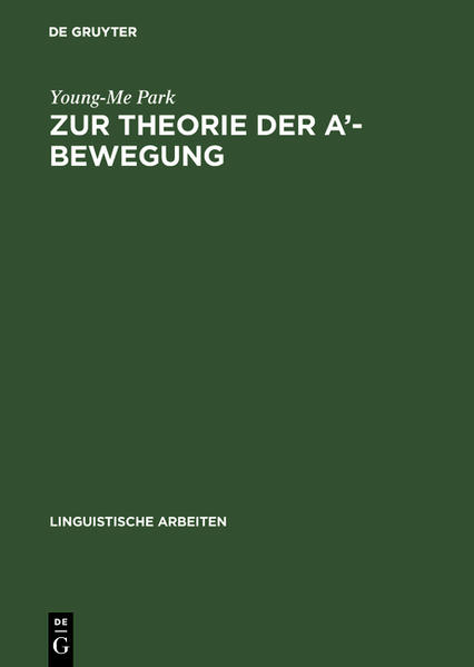 Zur Theorie der A'-Bewegung - Coverbild