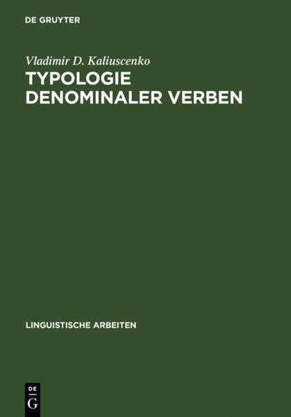 Typologie denominaler Verben - Coverbild