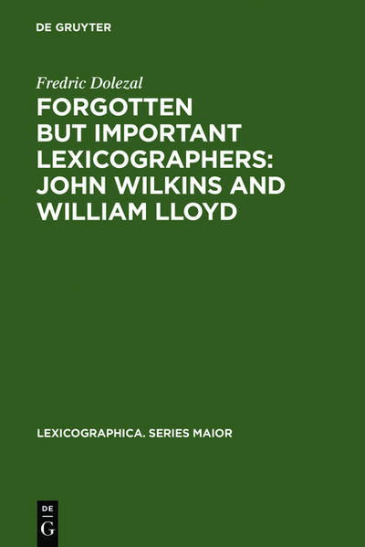 Forgotten But Important Lexicographers: John Wilkins and William Lloyd - Coverbild