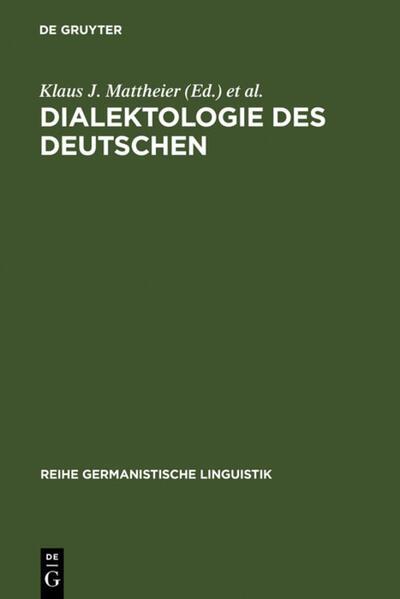 Dialektologie des Deutschen - Coverbild