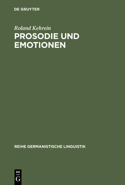 Prosodie und Emotionen - Coverbild