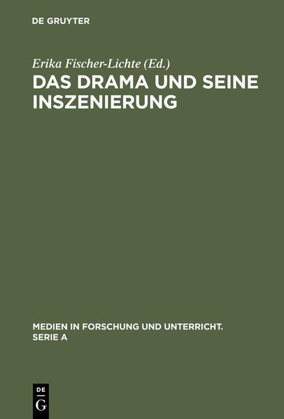 Das Drama und seine Inszenierung - Coverbild