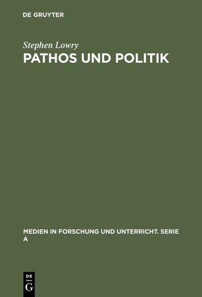 Pathos und Politik - Coverbild
