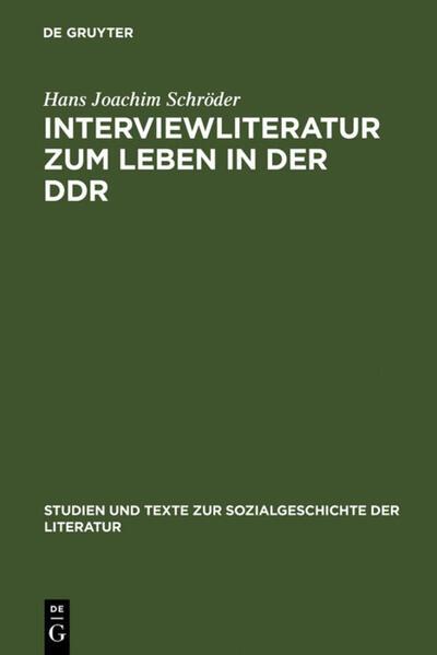 Interviewliteratur zum Leben in der DDR - Coverbild