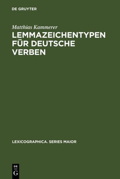 Lemmazeichentypen für deutsche Verben - Coverbild