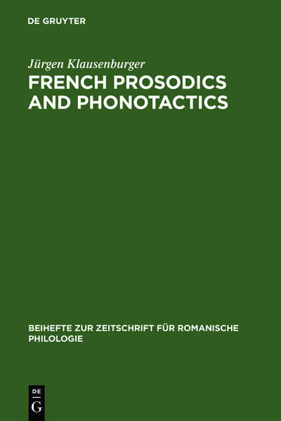French prosodics and phonotactics - Coverbild