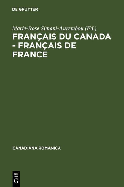 Français du Canada - Français de France - Coverbild