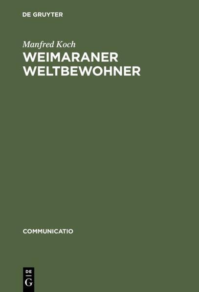 Weimaraner Weltbewohner - Coverbild