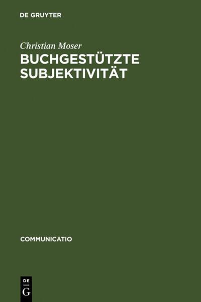 Buchgestützte Subjektivität - Coverbild