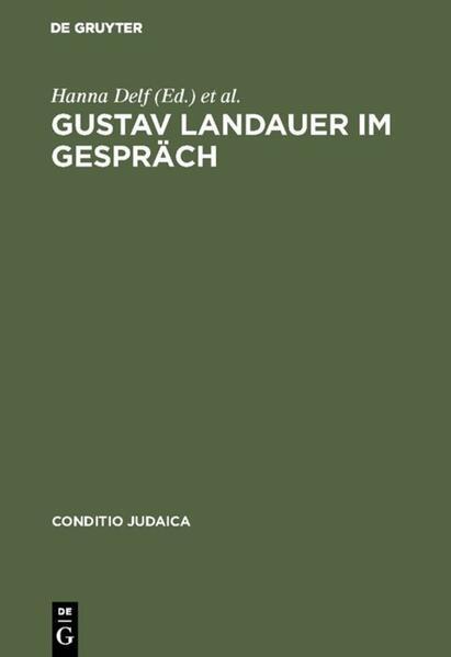 Gustav Landauer im Gespräch - Coverbild