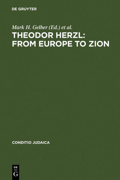 Theodor Herzl: From Europe to Zion - Coverbild