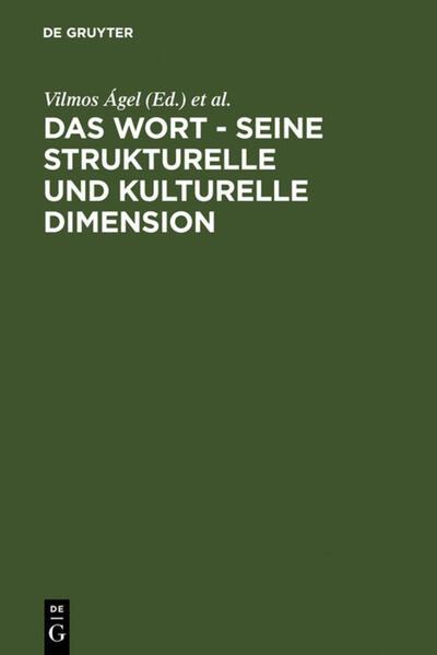 Das Wort - Seine strukturelle und kulturelle Dimension - Coverbild