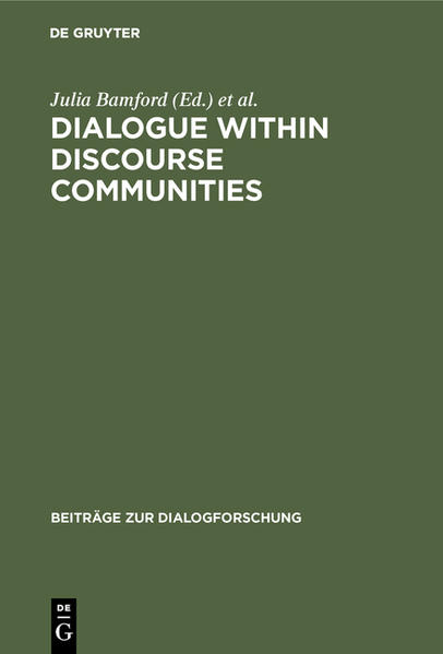 Dialogue within Discourse Communities - Coverbild