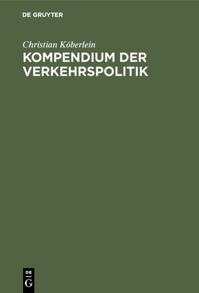 Kompendium der Verkehrspolitik - Coverbild
