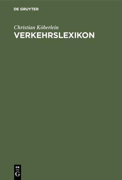 Verkehrslexikon - Coverbild