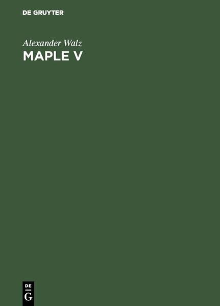 Maple V - Coverbild
